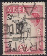 Aden 1953 - 63 QE2 2/-d Black & Carmine Red Used SG 66 ( K51 ) - Aden (1854-1963)