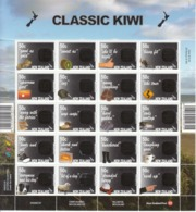 2007 New Zealand Classic Kiwi Birds Dogs Fish Sheep  Miniature Sheet Of 20  MNH @ BELOW FACE VALUE - Blocs-feuillets