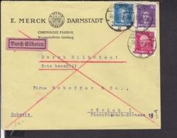 EilBrief Deutsches Reich Stempel Darmstadt 1927 - Deutschland