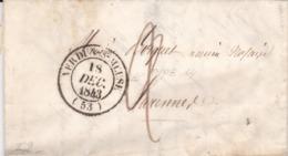 Lettre Pré Philatélique De  Verdun-sur-Meuse(53) Avec Cachet Type 14. - Marcophilie (Lettres)