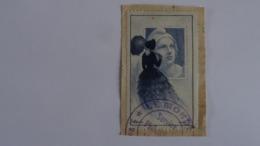 France 1948 -Vignette Marianne De GANDON-femme à L'ombrelle (Carré- Mazelin)- Essai Oblitéré Le Monde Philatélie (expo) - Curiosities: 1945-49 Used