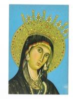 Cartolina Postale Santino - Madonna Di Montevergine 1 ( Avellino ) Formato Piccolo Cm. 145x95 Non Viaggiata - Santini