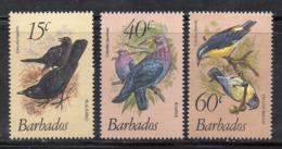 XP266 - BARBADOS 1982, Serie 545/547  ***  (2380A)  Uccelli - Barbados (1966-...)