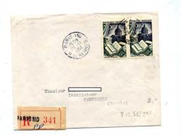 Lettre Recommandée Paris 110 Sur Reliure - Manual Postmarks