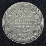 Russland, 20 Kopeks 1914, Silber - Russland