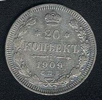 Russland, 20 Kopeks 1909, Silber - Rusland