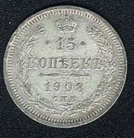 Russland, 15 Kopeks 1908, Silber - Russland