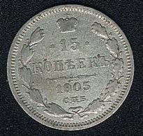 Russland, 15 Kopeks 1905, Silber - Russland