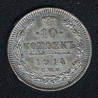 Russland, 10 Kopeks 1914, Silber - Russland