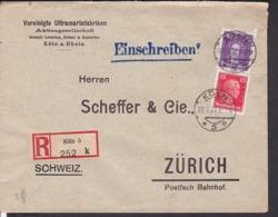 Einschreibbrief Deutsches Reich   Stempel Köln 1927 - Allemagne