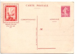 ENTIER SEMEUSE REPIQUE PEXIP 1937 PARIS - Entiers Postaux