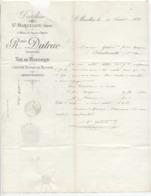 Isère: R. DUTRUC à St Marcellin, Distillerie, Absinthe, THE AU MANDARIN / Fact De 1884 - 1800 – 1899