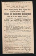 ADEL NOBLESSE - RIDDER CHARLES De GHELLINCK D'ELSEGHEM - GENT 1875 - DESTELBERGEN 1936 - Overlijden