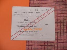 CENTENAIRE - 1947 BAL PALAIS DE CHAILLOT Paris Orchestre Jacques Hélian ( S.A Elèves Des Ecole Nles Des Arts Et Métiers - Collections