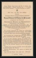 ADEL NOBLESSE - BURGEMEESTER BEYGHEM - GRAAF ETIENNE CORNET D'EKIUS De PEISSANT - NIEUWENHOVEN 1870 - BEYGHEM 1936 - Overlijden