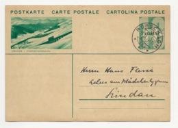 """Schweiz Suisse 1934: Bild-PK / CPI """"DAVOS-PARSENNBAHN"""" Mit O RORSCHACH 19.IX.34 Nach Lindau - Interi Postali"""