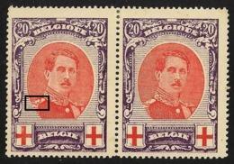Zegel In Paar Met 133V2 + 133 Met Scharnier Midden Van De Zegels - 1914-1915 Red Cross