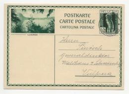 """Schweiz Suisse 1931: Bild-PK / CPI """"LUGANO"""" Mit O CHUR 4.III.31 Nach Vulpera - Entiers Postaux"""