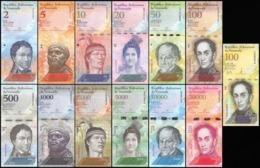 Venezuela 2 - 100,000 Bolívar Fuerte 13 Pieces - , Full Set, 2007-2017, UNC - Venezuela