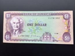 JAMAICA P68A 1 DOLLAR 1.1.1990 UNC - Jamaica