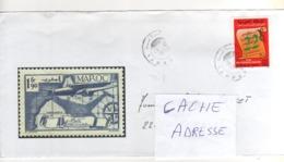 """Timbre , Stamp   """" Marche Verte """" Sur Lettre ,enveloppe, Cover , Mail  Du 26/10/1998 Pour La France - Morocco (1956-...)"""