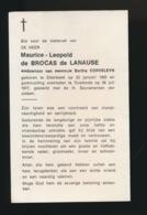 ADEL NOBLESSE - MAURICE De BROCAS De LAAUSE - ETTERBEEK 1902 - OOSTENDE 1977 - Décès