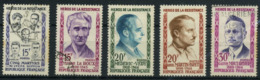 FRANCE    Héros De La Résistance    N° Y&T  1198 à 1202  (o) - Usati