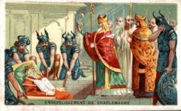 CHROMO CHICOREE BELLE JARDINIERE ENSEVELISSEMENT DE CHARLEMAGNE - Andere