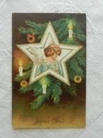 CPA  Gauffrée  JOYEUX NOEL   Ange Dans Une étoile - Other