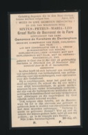 ADEL NOBLESSE - BURGEMEESTER NOKERE ) KAMERHEER V:D PAUS - GRAAF SIXTUS RUFFO De BONNEVAL De La FARE - GENT 1883 - ETTER - Overlijden