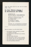 ADEL NOBLESSE - ETIENNE D'AUSSY De BREEMEERSCH Ter HELLEN - TORHOUT 104 - GISTEL 1973 - Overlijden