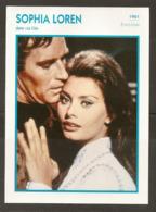 PORTRAIT DE STAR 1961 ÉTATS UNIS USA - ACTRICE SOPHIA LOREN LE CID - UNITED STATES USA ACTRESS CINEMA FILM PHOTO - Fotos