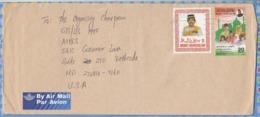 Brunei On Cover To USA - 1995 (1985 1986 1994) - Sultan Hassanal Bolkiah Intl. Day Against Drug Abuse - Brunei (1984-...)