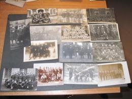 14 (B) PHOTOS/CARTES DE GROUPES DE MILITAIRES - UNITES A DEFINIR - VOIR SCANS - Army & War