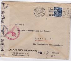 DANEMARK :  Lettre Pour Paris De 1942 Avec Censure Allemande - 1913-47 (Christian X)