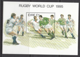 1995 Ireland Rugby Souvenir Sheet  MNH - Rugby