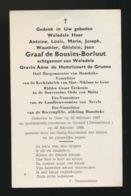 ADEL NOBLESSE - BURGEMEESTER HANSBEKE - GRAAF ANTOINE De BOUSIES BORLUUT - GENT 1897 - GSTAAD 1969 - Overlijden