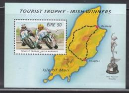 1995 Ireland Motorcycle Racing Maps Souvenir Sheet  MNH - Motorräder