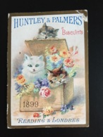Huntley Palmers Chromo Calendrier Petits Chats Chaton Chat Cat 1899 - Altri
