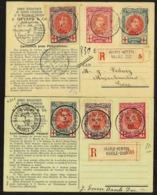 N°132/4 Op 2 Verschillende Aangetekende Kaarten Gestempeld Met BAARLE-HERTOG - 1914-1915 Red Cross