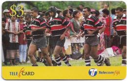 Fiji - Telecom Fiji - Naitafiri Rugby, Champs, Cn.99052, Remote Mem. 3$, Used - Figi