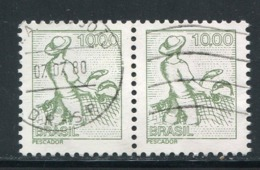BRESIL- Y&T N°1250 En Paire- Oblitéré - Brasile