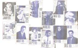 Calendrier Jukebox 1965  Johnny, Elvis, Claude François Etc... - Kalenders