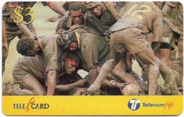 Fiji - Telecom Fiji - Naitafiri Rugby, Maul, Cn.99047, Remote Mem. 3$, Used - Figi