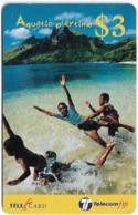 Fiji - Telecom Fiji - Aquatic Playtime, Flying Kids, Cn.99058, Remote Mem. 3$, Used - Figi