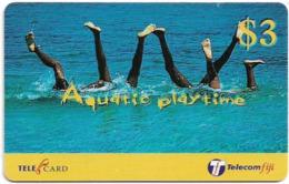 Fiji - Telecom Fiji - Aquatic Playtime, Hand Stand, Cn.99059, Remote Mem. 3$, Used - Figi