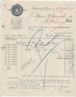 Charente: A. TESSERON , Cognacs à Chateauneuf / Cognac / Facture De 1904 - 1900 – 1949