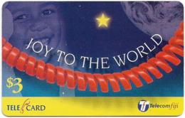 Fiji - Telecom Fiji - Christmas, Joy To The World, Cn.99091, Remote Mem. 3$, Used - Figi