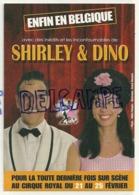 Publicité Pour Shirley & Dino Au Cirque Royal De Bruxelles. Carte Boomerang - Künstler