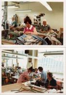 2 Photos Couleurs Amateur Originales Ambiance Couturières à L'Atelier De Confection Vers 1960 - Couture & Bobines De Fil - Professions